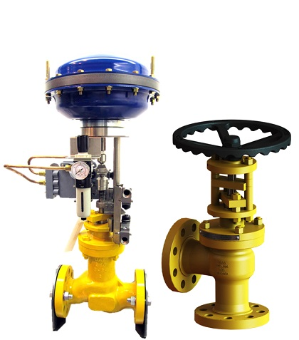 Pneumatic Actuated Control Globe and Angle Valve